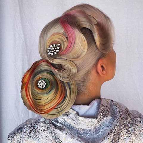 مدل موی شینیون جدید