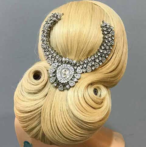 مدل موی شیک سنگین شینیونی