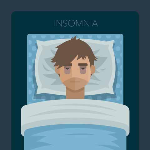 علت بی خوابی و درمان با طب