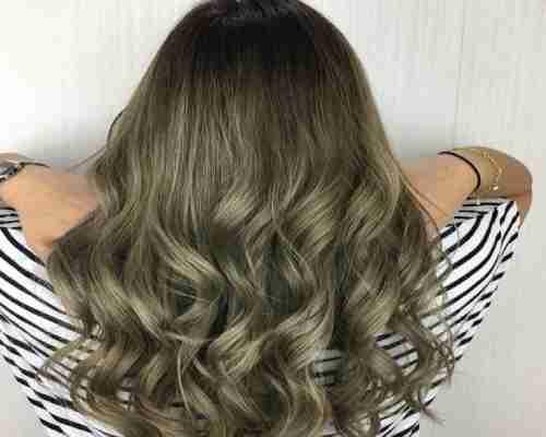 زیتونی کردن رنگ موها بدون دکلره