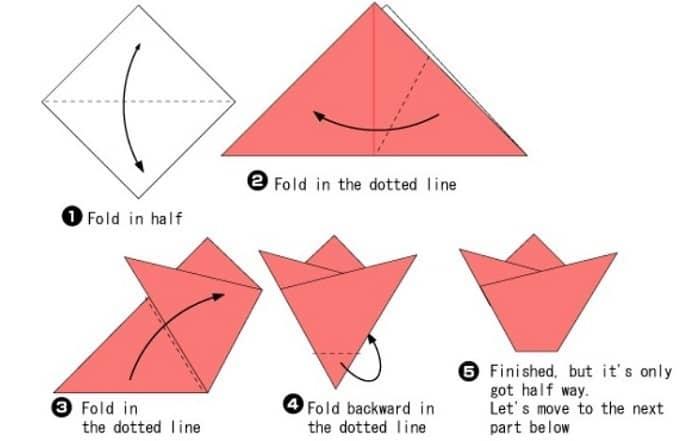 آموزش ساخت اوریگامی آسان گل رز