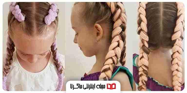 آموزش بافتن مو با کاموا ساده و رنگی