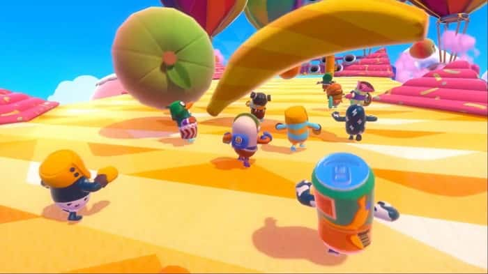 راهنمای مینی گیم Fruit Chute در بازی Fall Guys