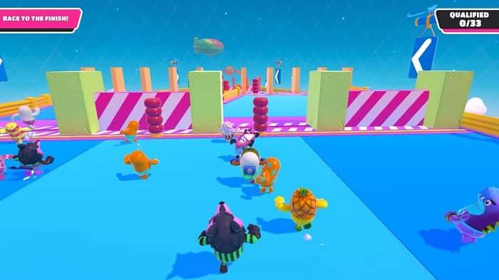 راهنمای مینی گیم Gate Crash در بازی فال گایز