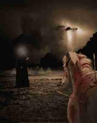 والپیپر صحنه تیر خوردن اسب امام حسین در عاشورا