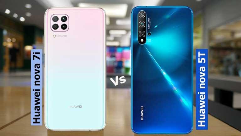 مقایسه Nova 7i با Nova 5t با گلکسی A51