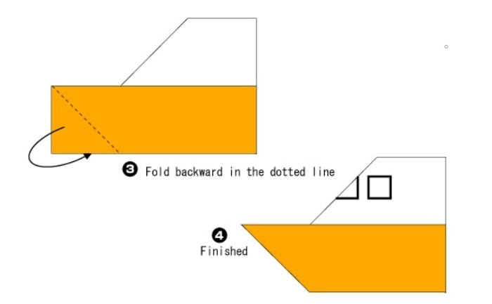 آموزش تصویری نحوه ساخت اوریگامی قایق ساده