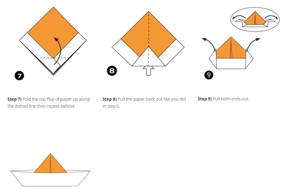 آموزش تصویری گام به گام نحوه ایجاد کاردستی قایق آسان