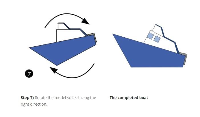 آموزش تصویری ساخت یک اوریگامی قایق حرفه ای