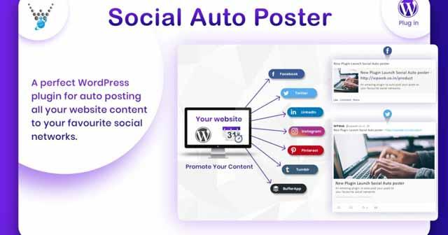 افزونه ارسال خودکار به شبکه های اجتماعی   social auto poster