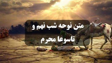تصویر متن نوحه شب نهم محرم 99 ⚫ تاسوعا حضرت ابوالفضل عباس (ع)