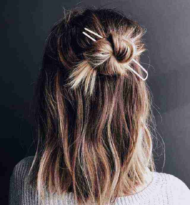 مدل مو باز گوجه ای