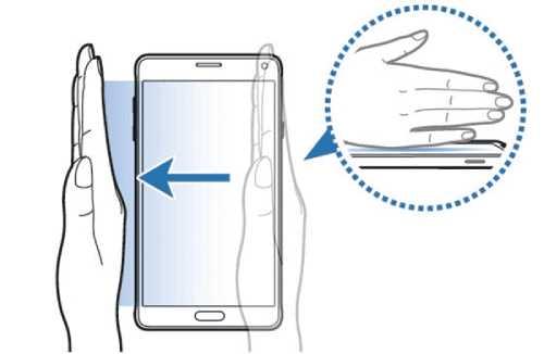 گرفتن اسکرین شات با استفاده ویژگی Palm Swipe در Galaxy A30