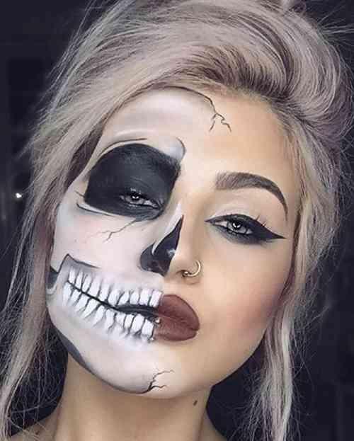 گریم هالووین ترسناک و جذاب پسرانه و دخترانه 2020 + مدل آرایش ساده