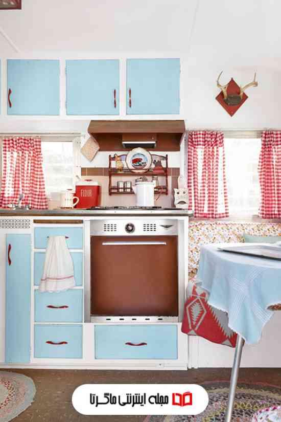 رنگ آبی فیروزهای در آشپزخانه