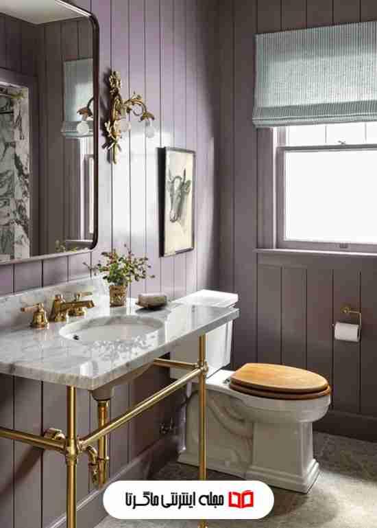 رنگ بنفش مات در سرویس بهداشتی