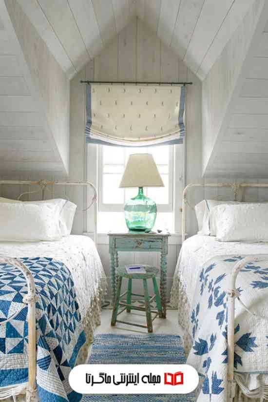 رنگ خاکستری در اتاق خواب