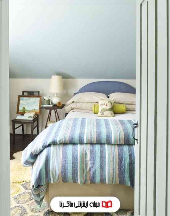 رنگ آبی آسمانی در اتاق خواب