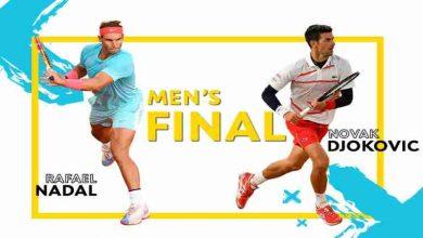 تصویر قهرمانی رافائل نادال در فینال رولند گاروس تنیس آزاد فرانسه ۲۰۲۰