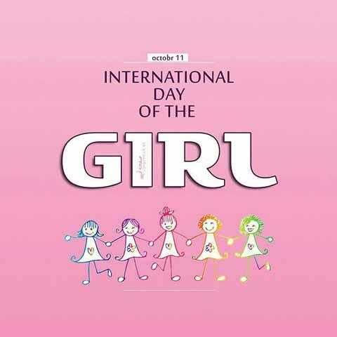 عکس پروفایل تبریک روز جهانی دختر به انگلیسی