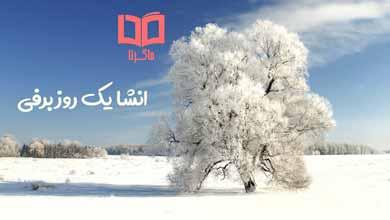 تصویر انشا در مورد یک روز برفی، یک روز برفی را در یک بند توصیف کنید