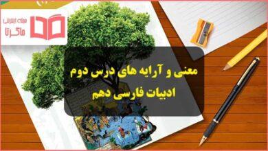معنی و آرایه های ادبی درس دوم از آموختن ننگ مدار فارسی دهم
